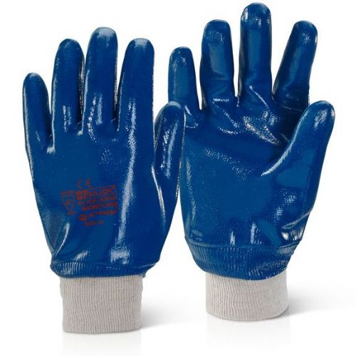 Click Fully Coated Nitrile Knit Wrist Gloves - 100 Pairs